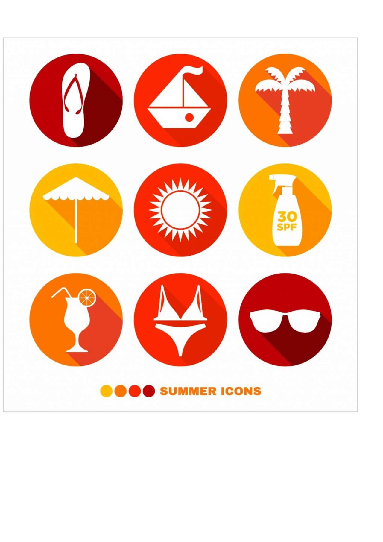 "Free vector ""Summer abstract icons set"""