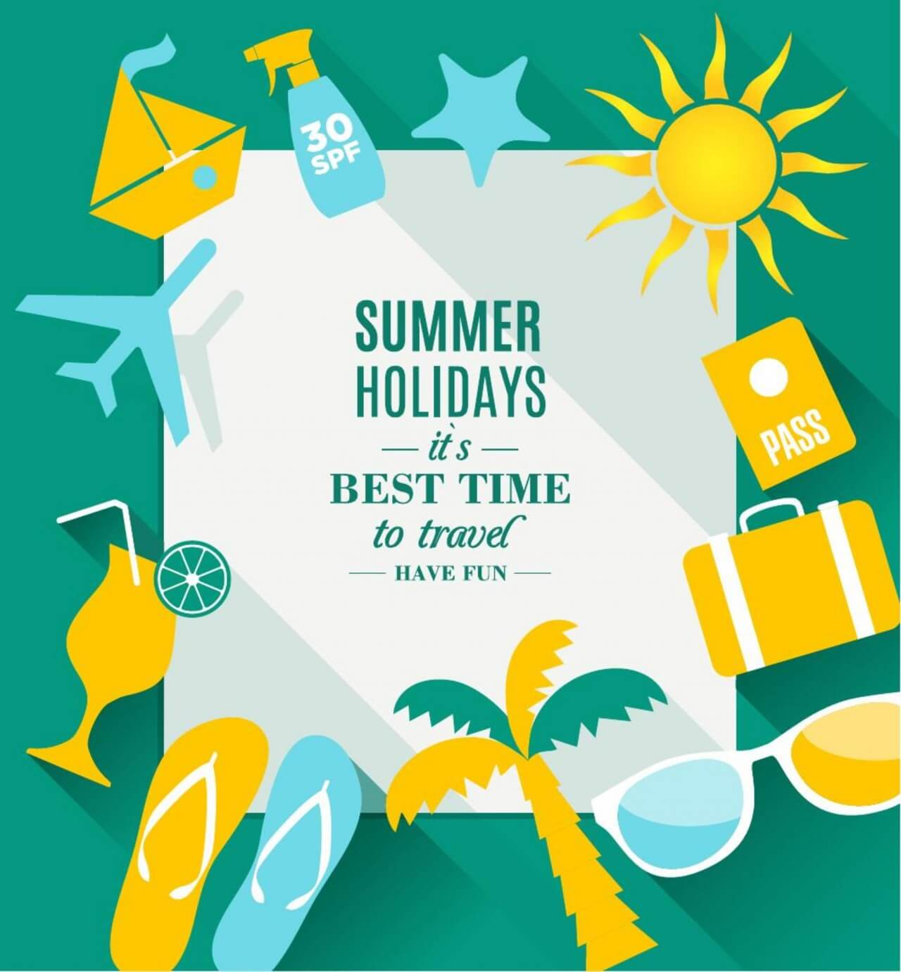 "Free vector ""Summer holidays texture"""