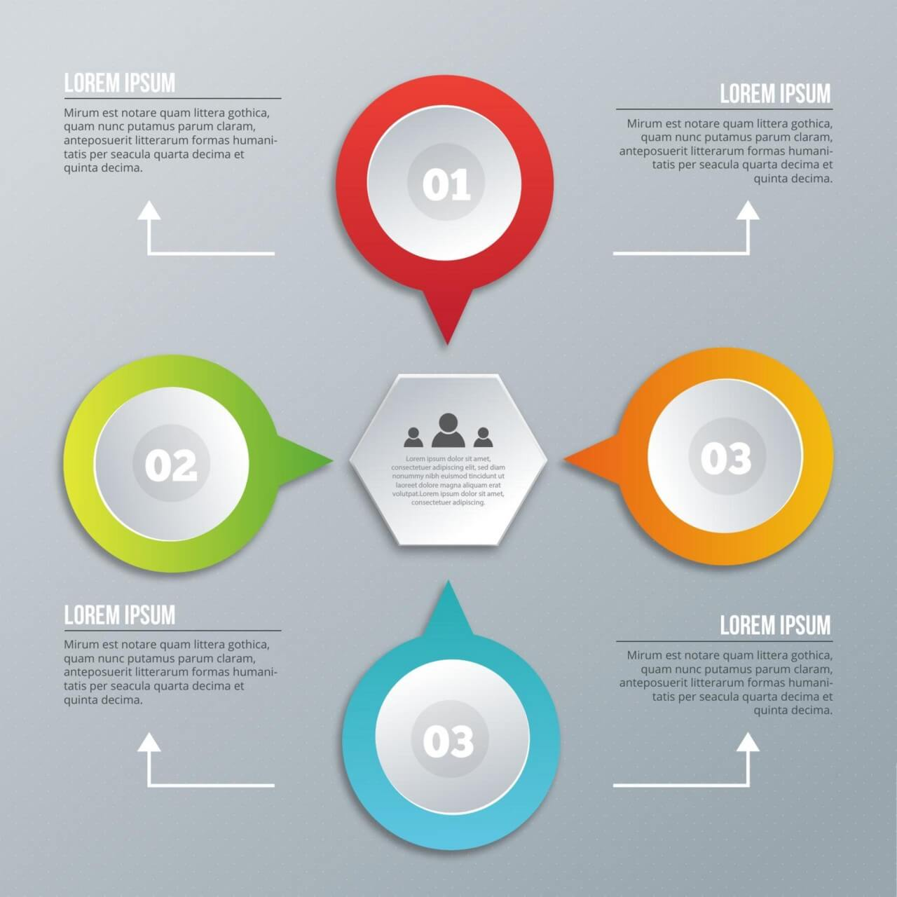 """Free vector """"Infographic design on the grey background"""""""
