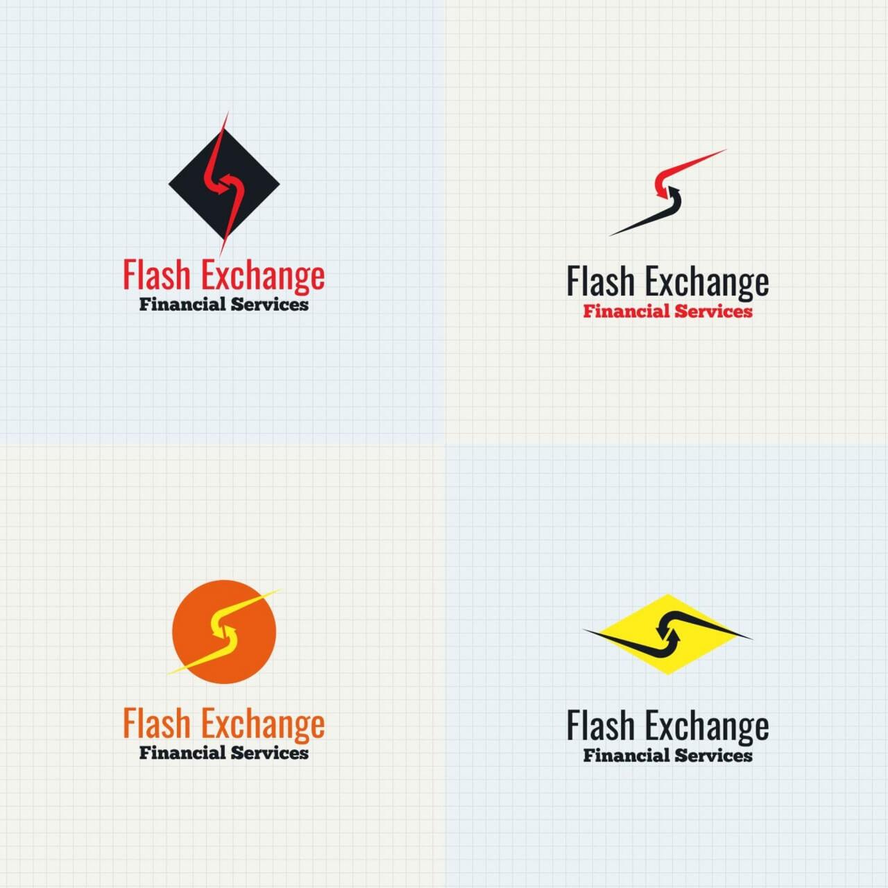 "Free vector ""Exchange logo design"""