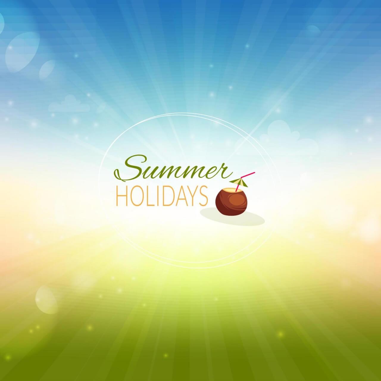 """Free vector """"Summer illustration"""""""