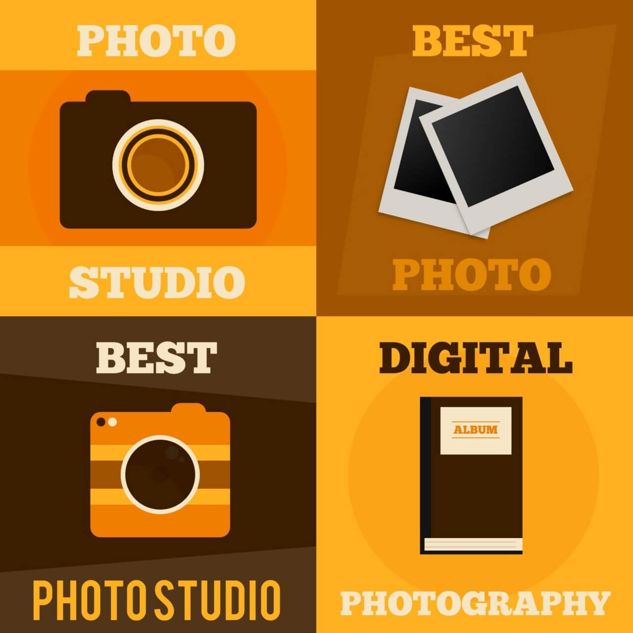 """Free vector """"Photography vector posters"""""""