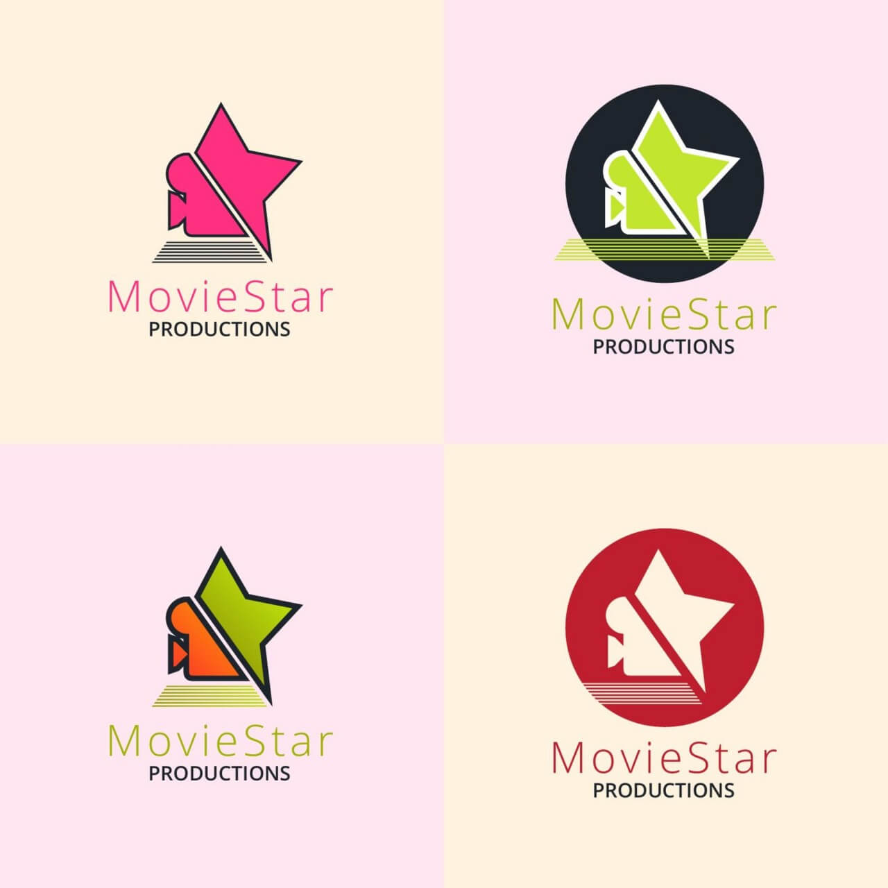 "Free vector ""Movie production logo design"""