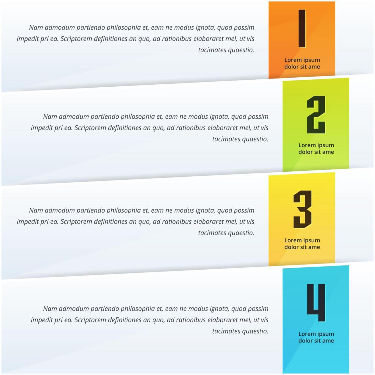 """Free vector """"Infographic options design"""""""