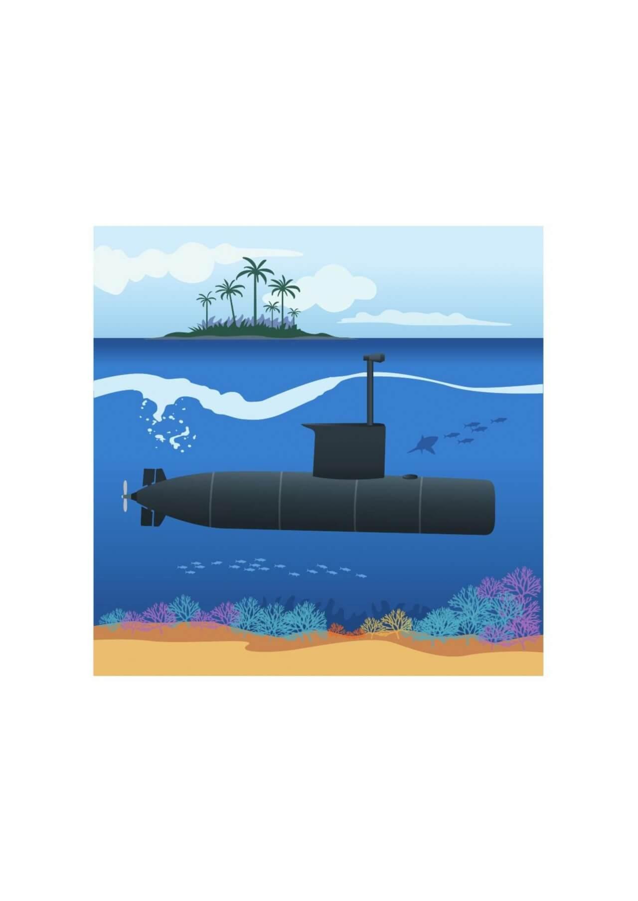 "Free vector ""Submarine"""