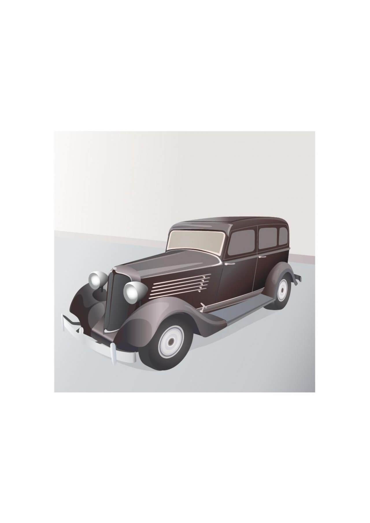 """Free vector """"Vintage limousine"""""""