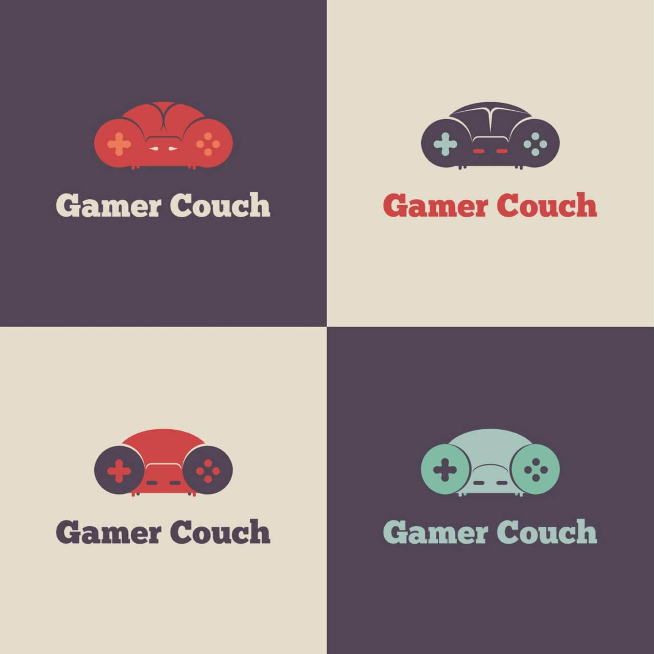 """Free vector """"Gamer Couch Vector Logo"""""""