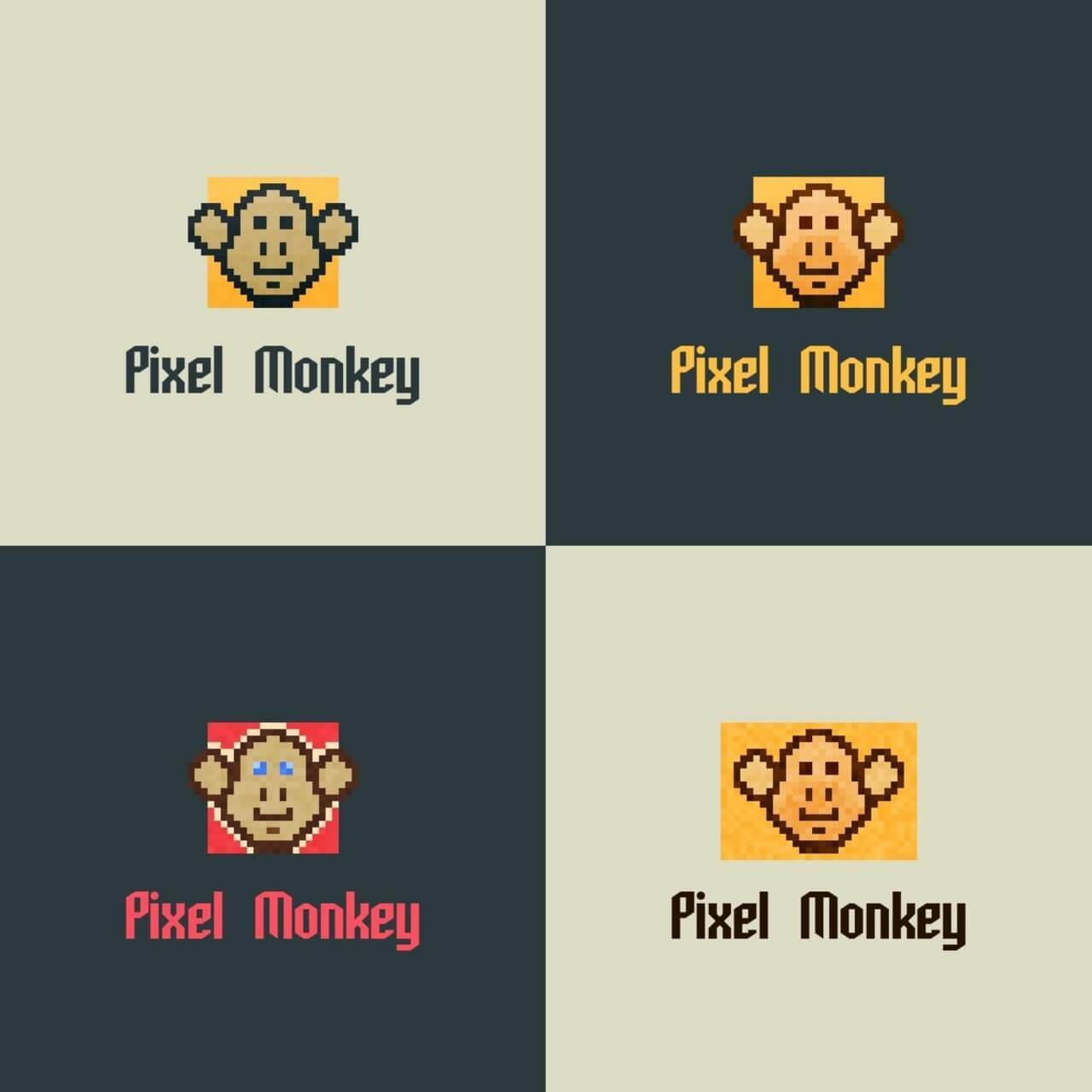 "Free vector ""Pixel Monkey Vector Logo"""