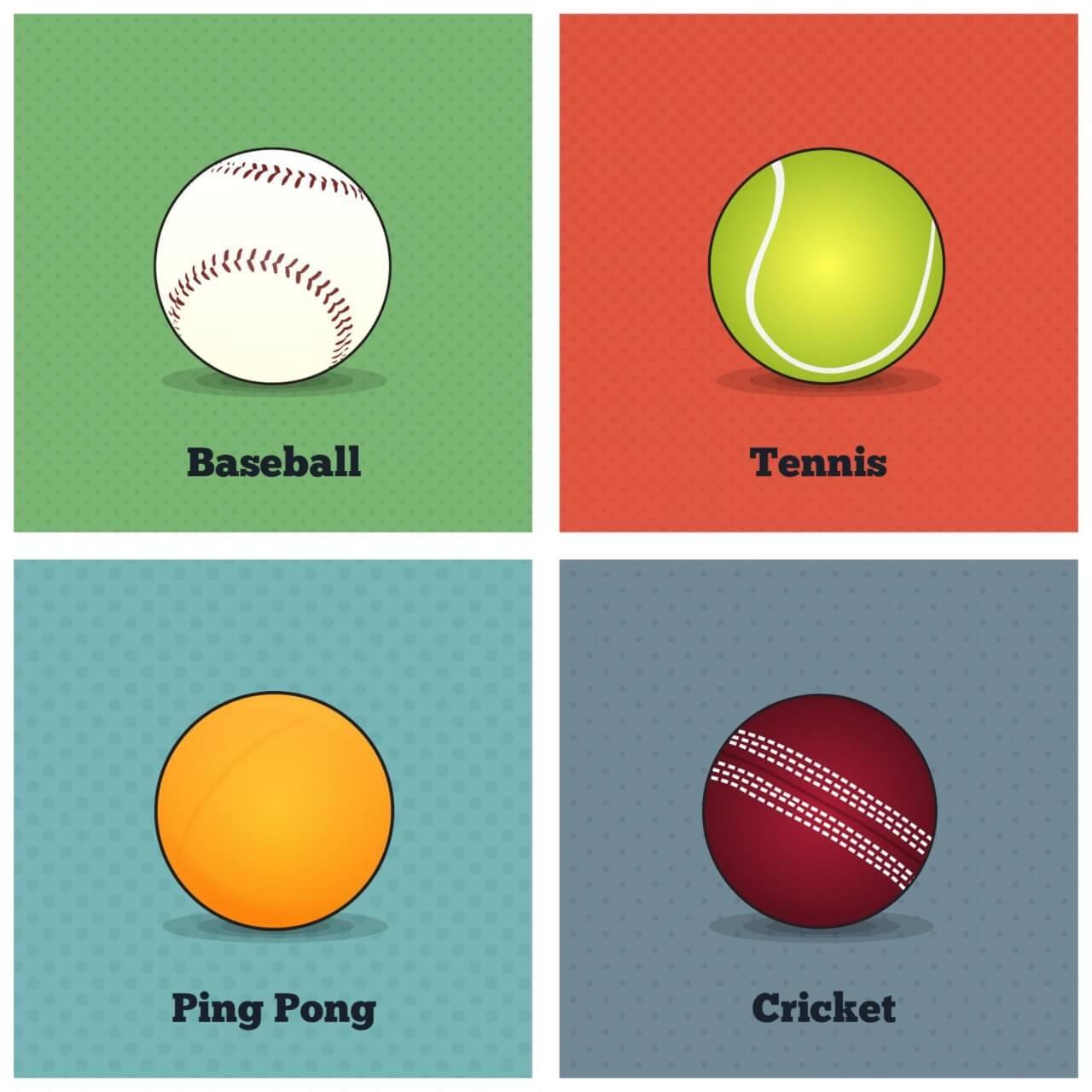 "Free vector ""Vector Sports Balls"""