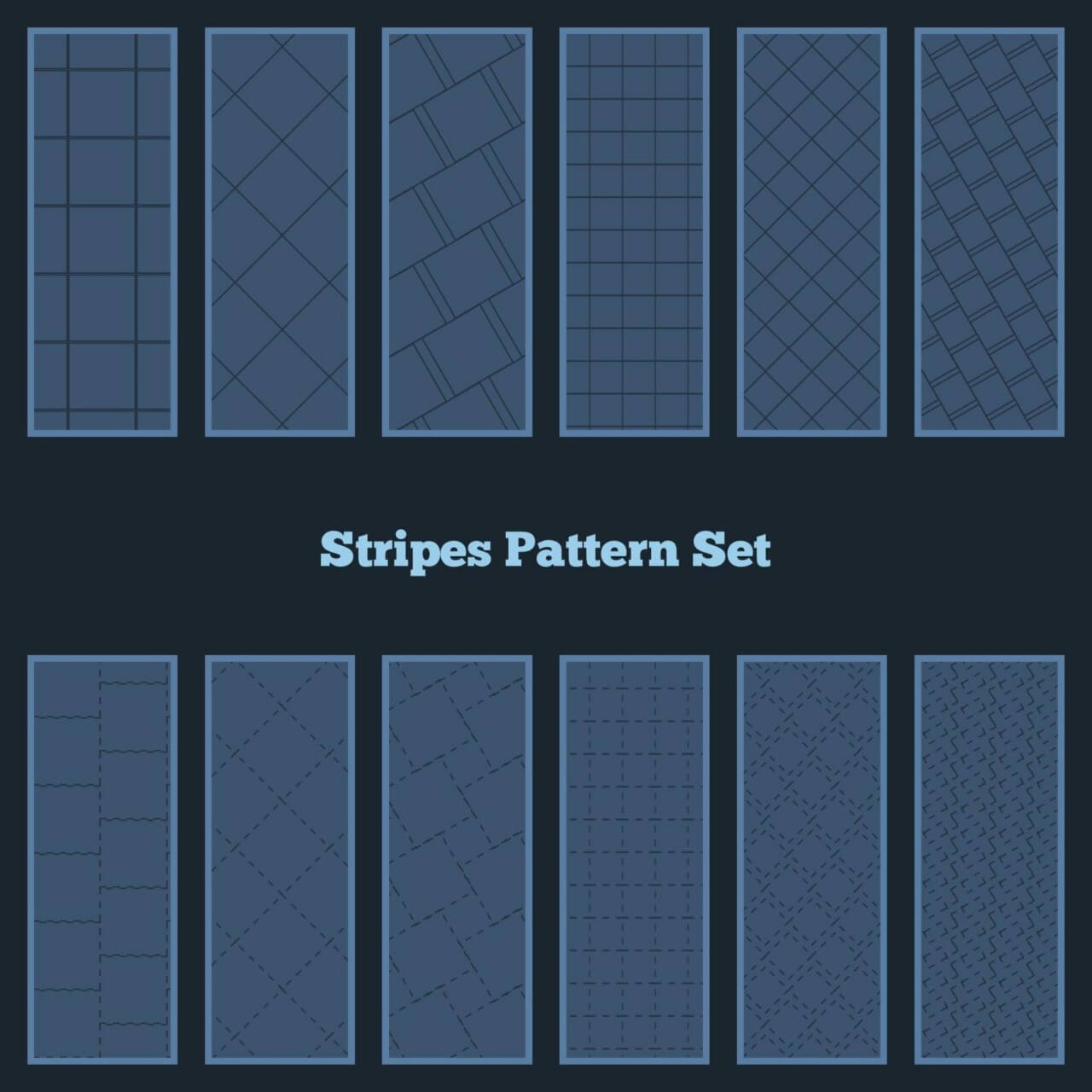 "Free vector ""Stripes Pattern Set"""