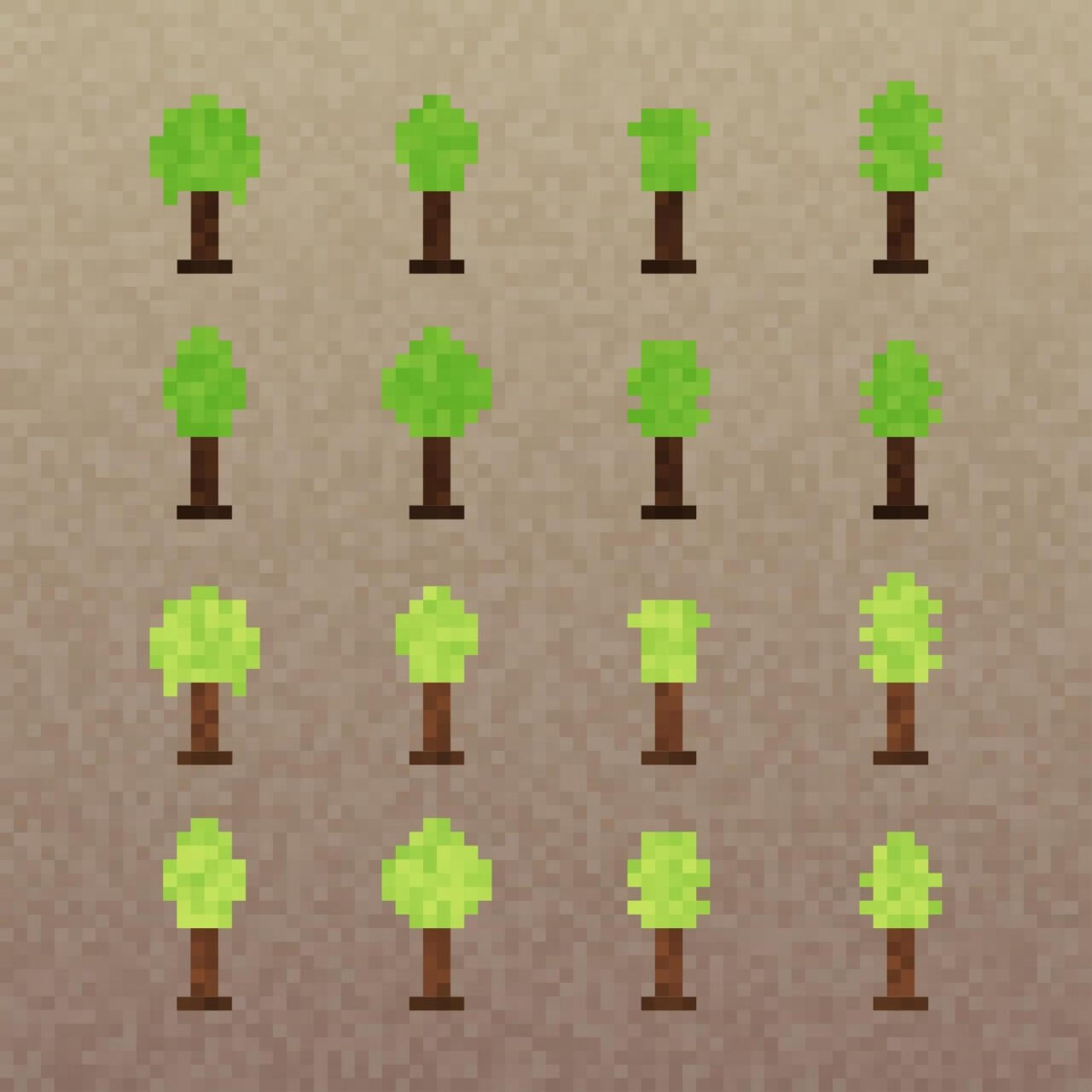 "Free vector ""Pixel Trees Set"""