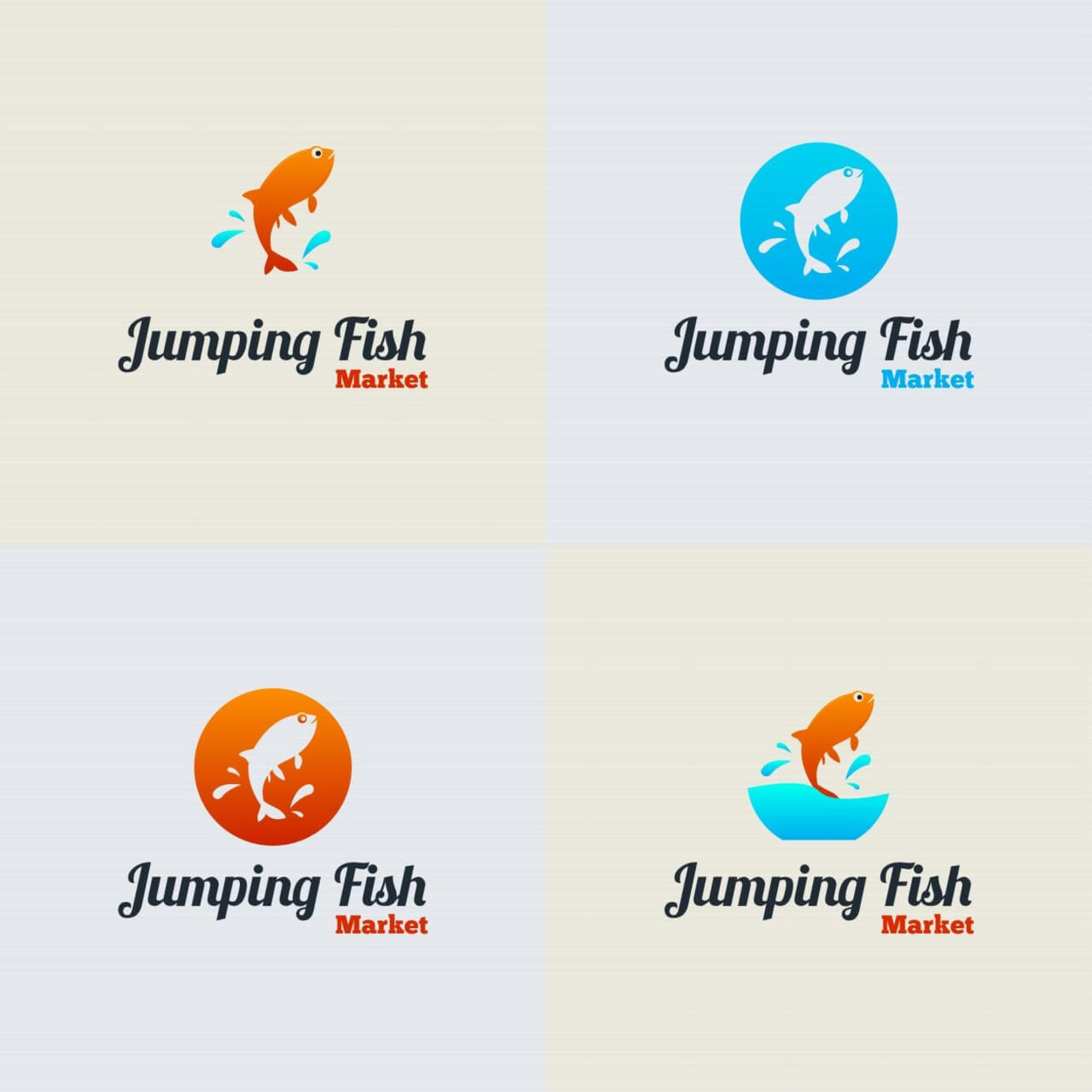 "Free vector ""Jumping Fish Vector Logo"""