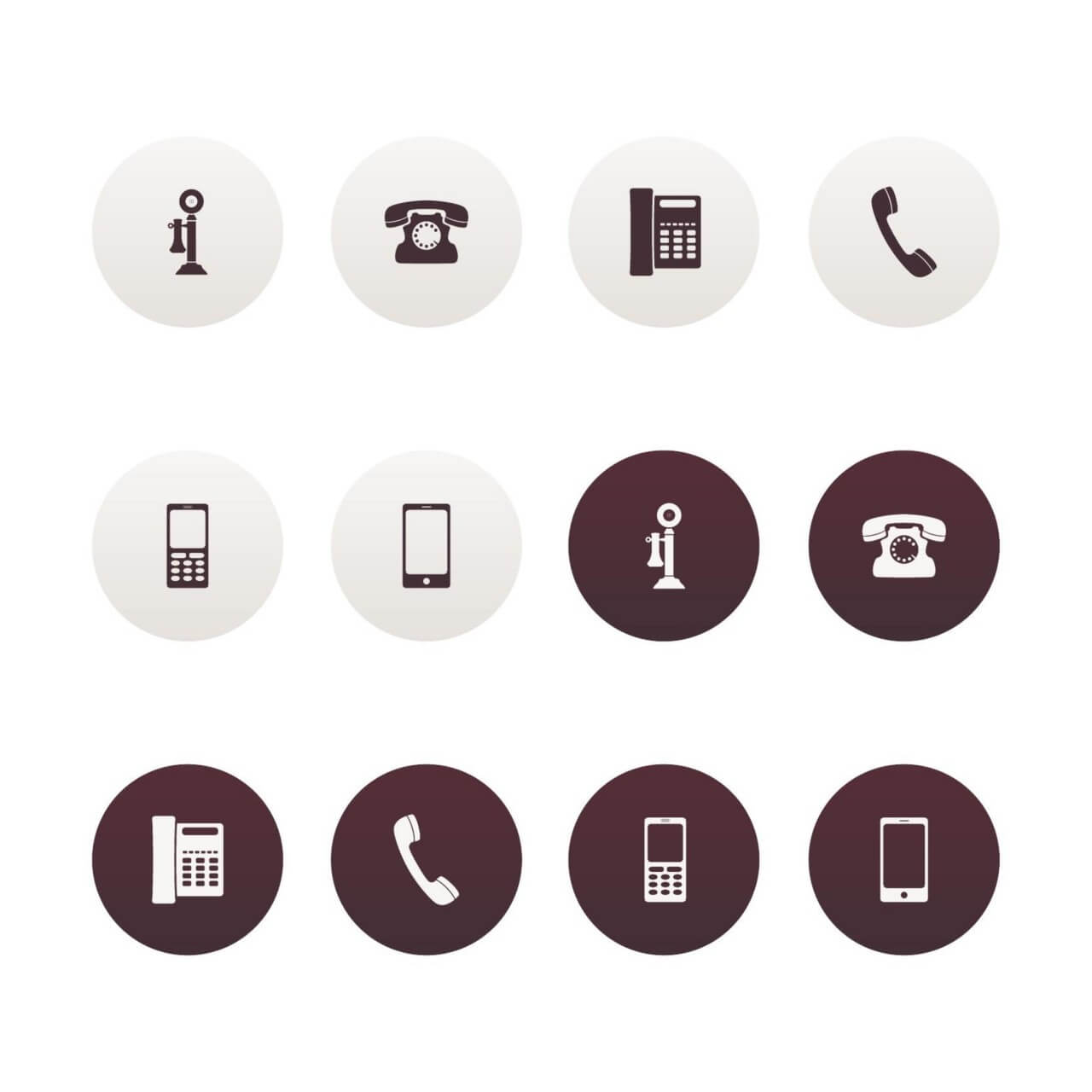 "Free vector ""Vector Phone Icons"""
