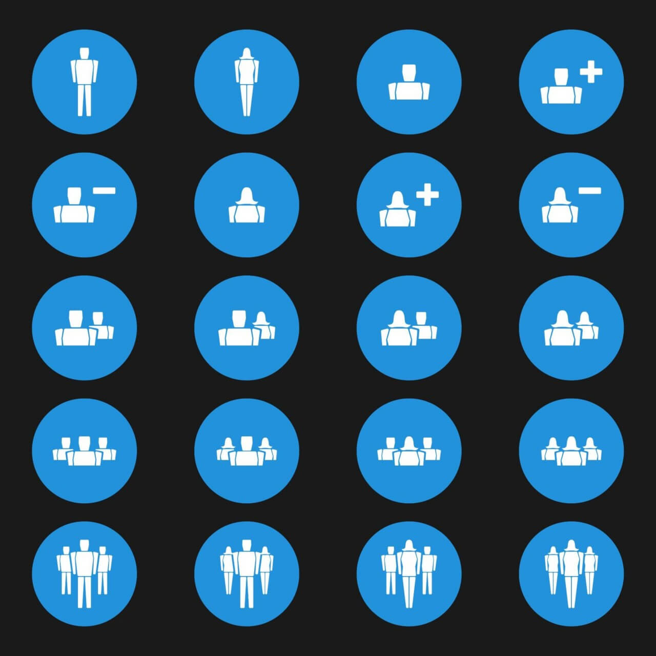 "Free vector ""People Vector Icons"""