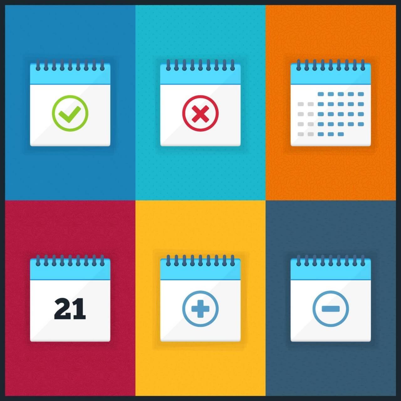 """Free vector """"Vector Calendar Icons"""""""