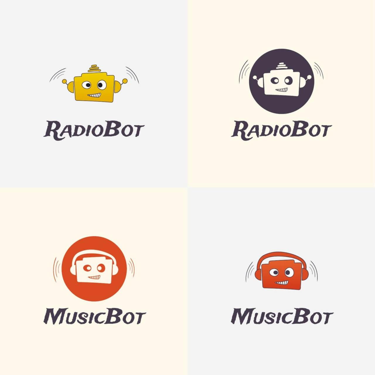 """Free vector """"Radio Robot Vector Logo"""""""