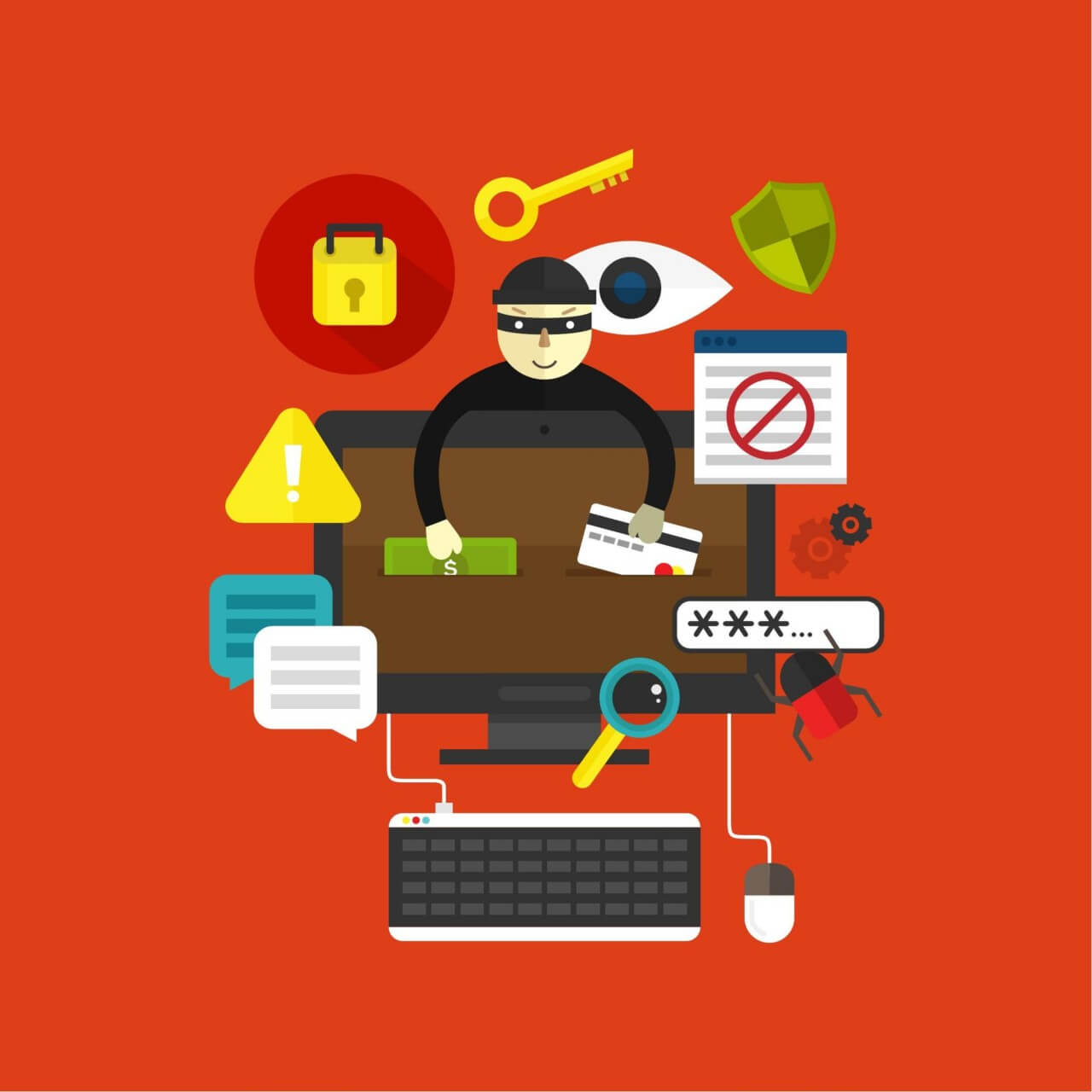 "Free vector ""Online Thief"""