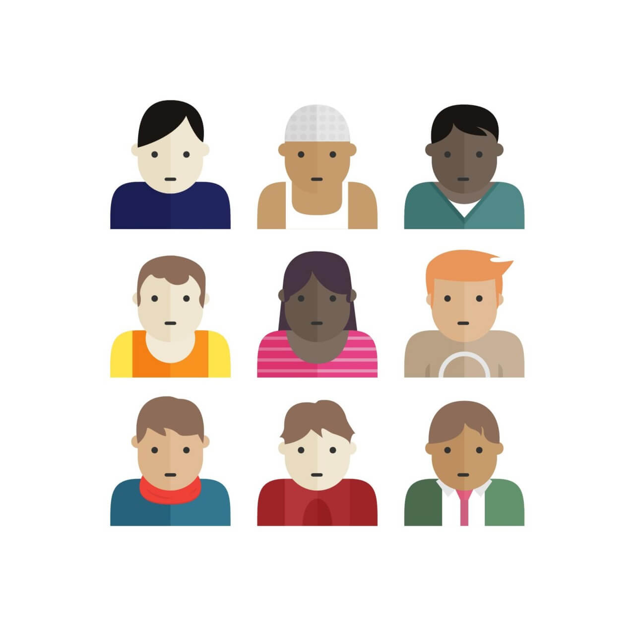 "Free vector ""People Icons"""