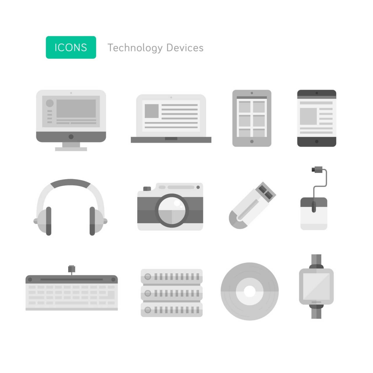 "Free vector ""Technology Device Icons"""