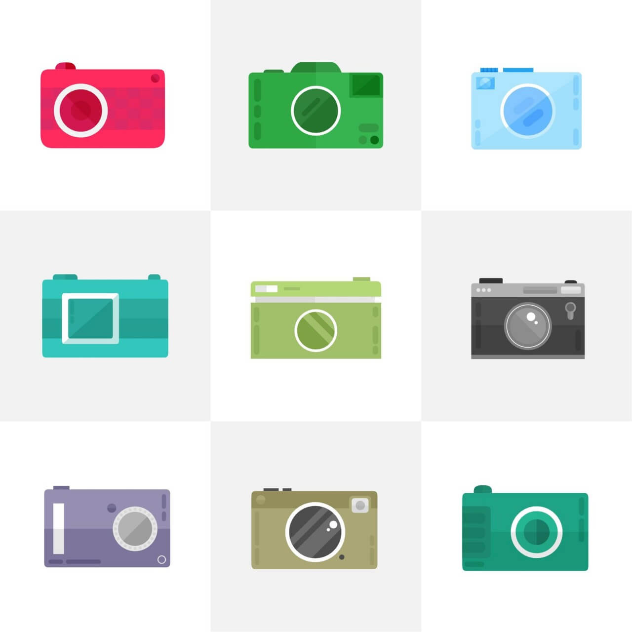 "Free vector ""Camera Icons"""