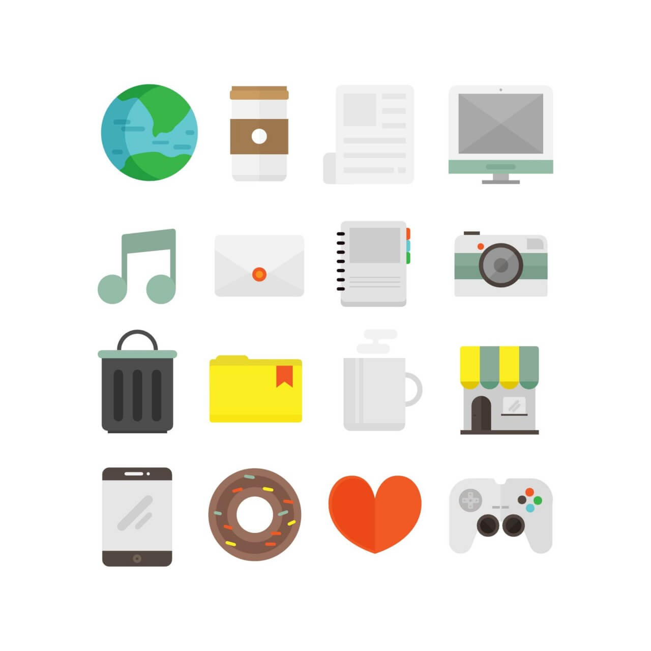 "Free vector ""Flat Icons for UI Design"""