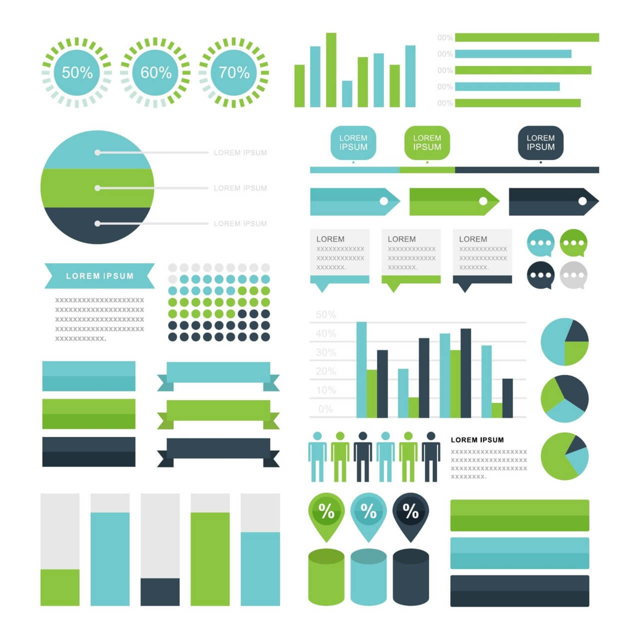 """Free vector """"Infographic Elements"""""""