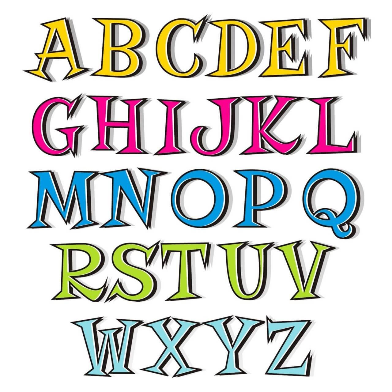 "Free vector ""Doodle alphabet"""