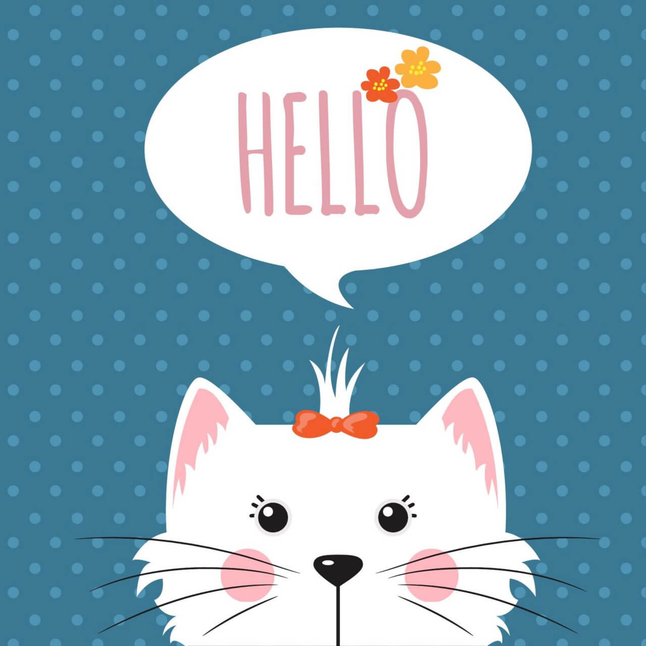 "Free vector ""Cute dog with chat bubble"""