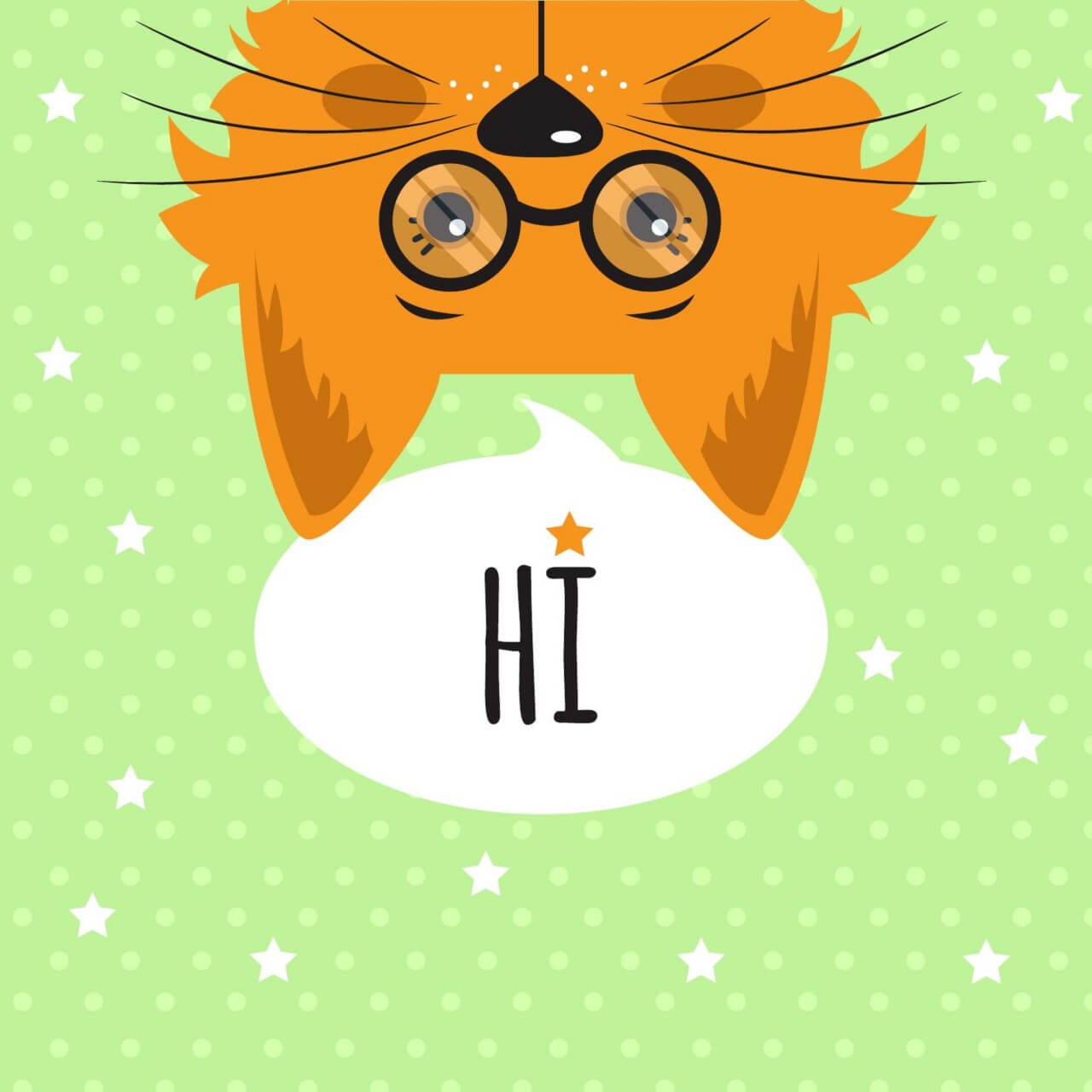 """Free vector """"Cat with chat bubble vector illustration """""""