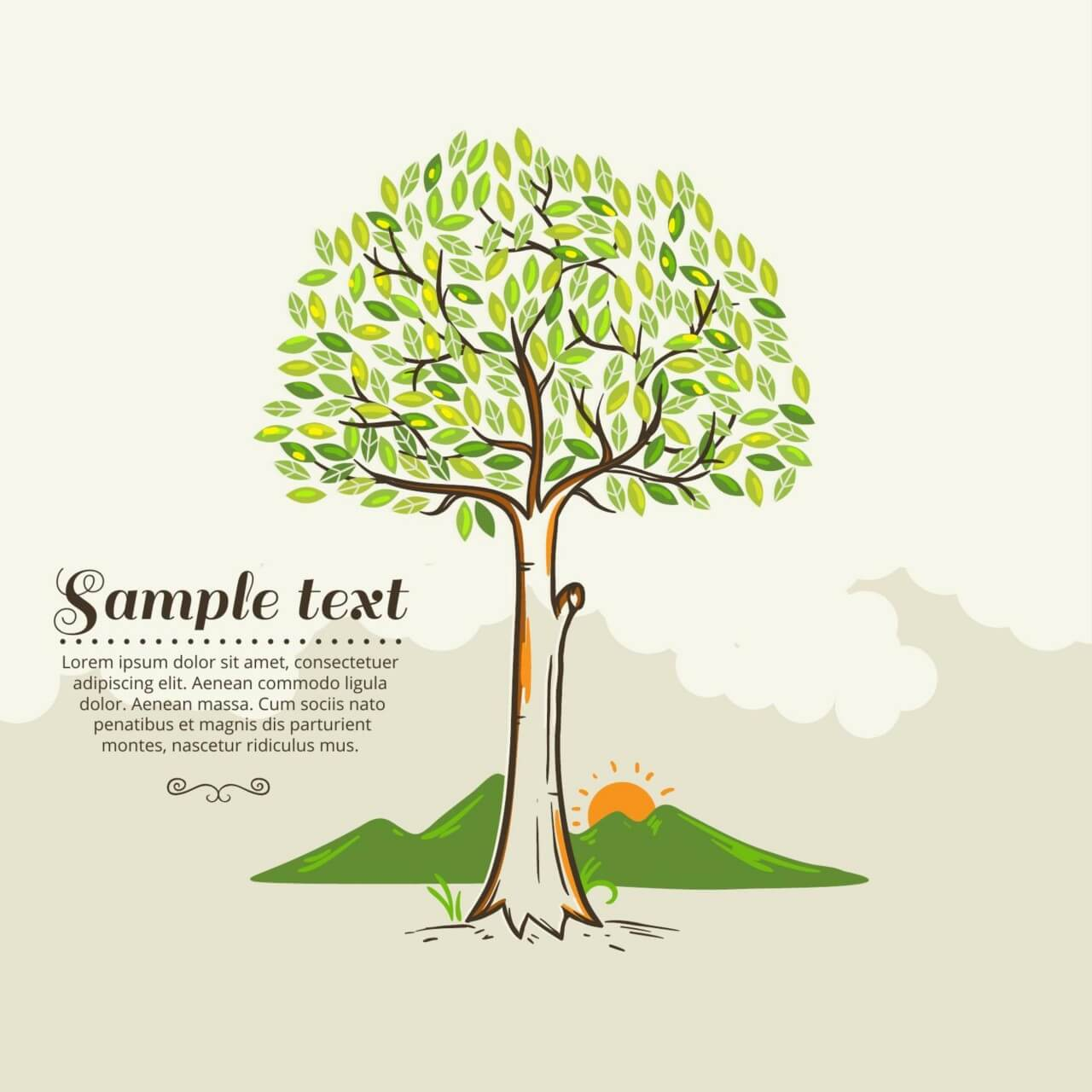 """Free vector """"Tree vector illustration"""""""