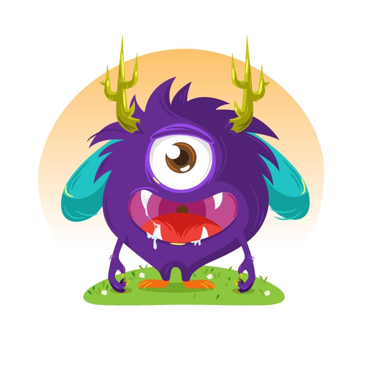 "Free vector ""Cute monster"""