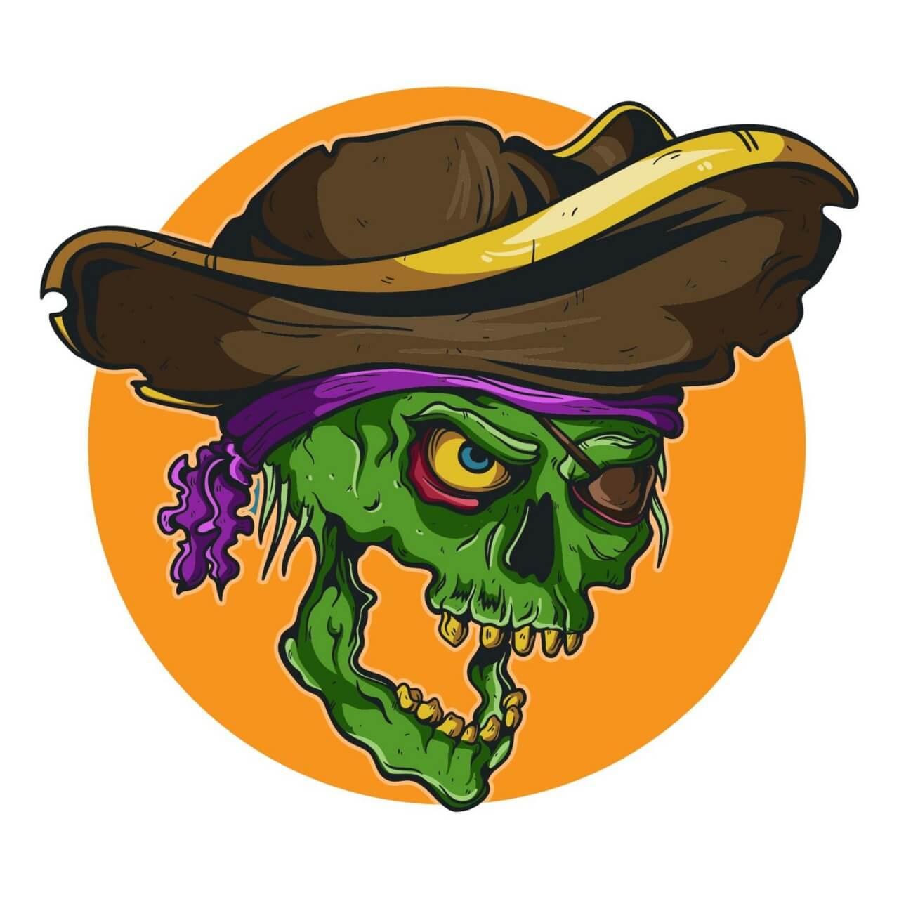 "Free vector ""Vintage pirate skull """