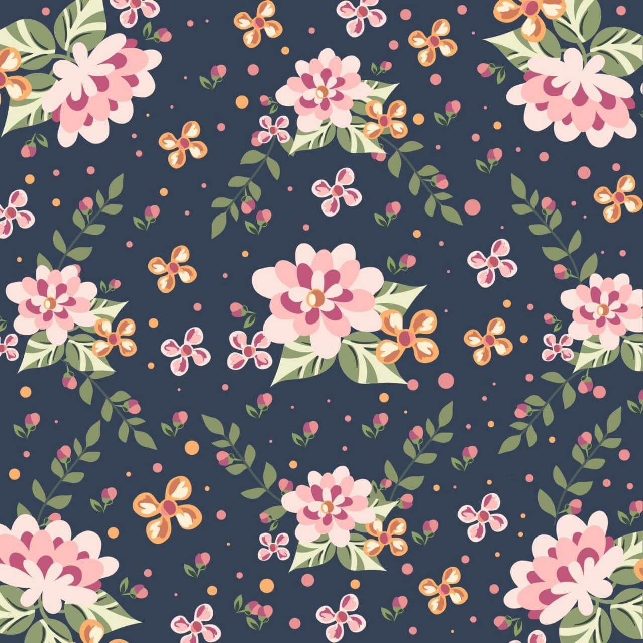 "Free vector ""Floral illustration """