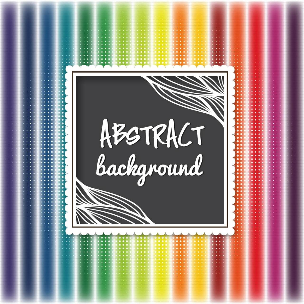 """Free vector """"Abstract background with cute frame"""""""