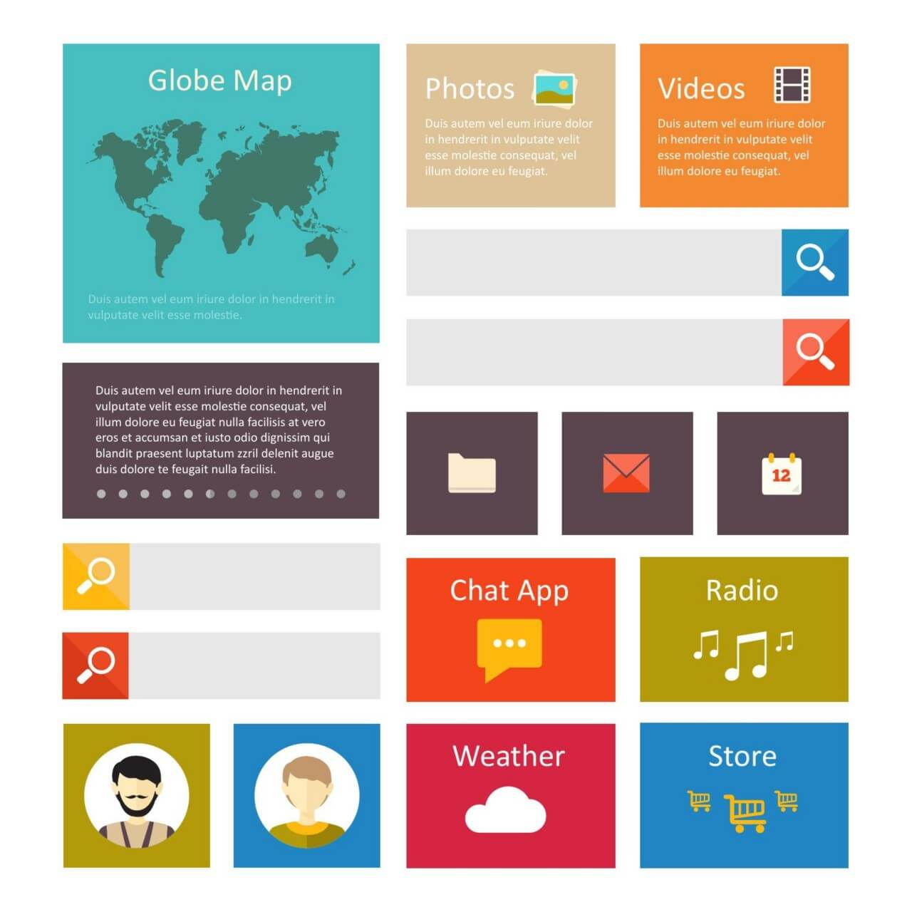 "Free vector ""Infographic webpage elements"""