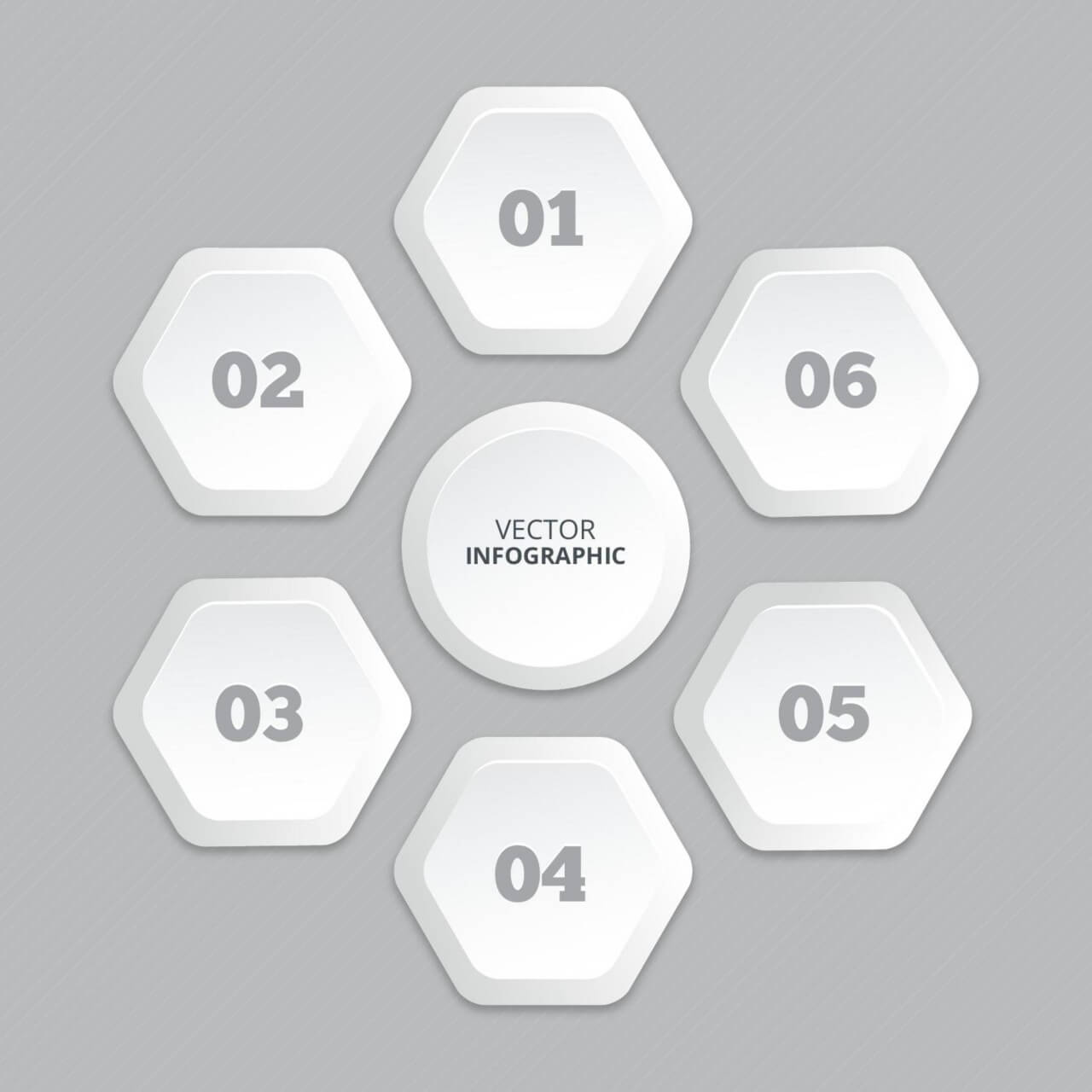 "Free vector ""Infographic with honeycomb structure"""