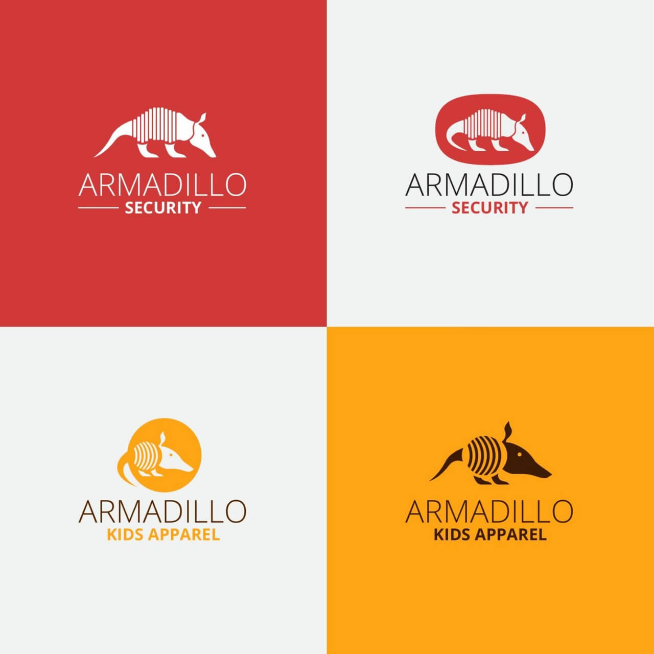 "Free vector ""Security armadillo logo design"""