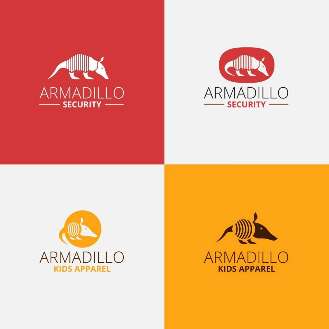 "Free vector ""Security armadillo logo design"""