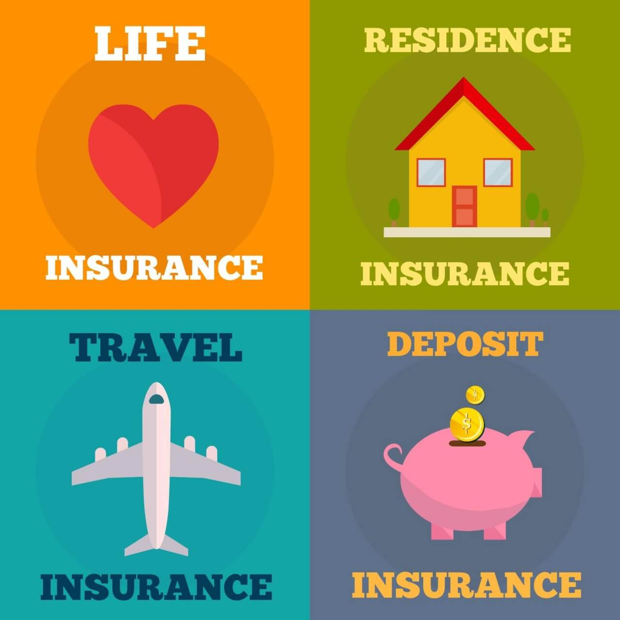 """Free vector """"In surance flat concept design"""""""