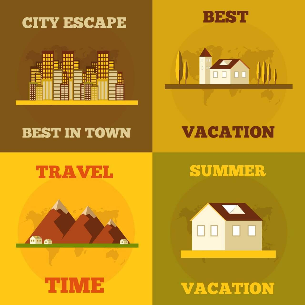 "Free vector ""Travel flat concept design"""