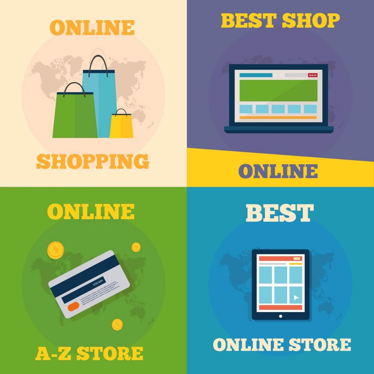 "Free vector ""Online shopping flat concept design"""