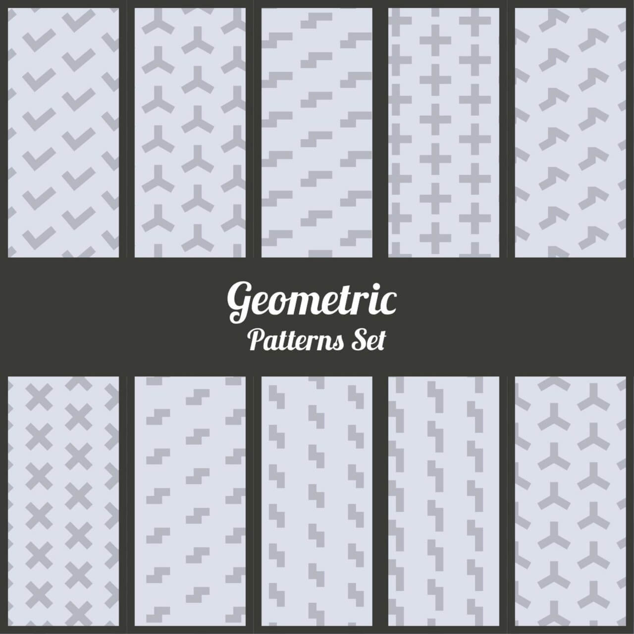 "Free vector ""Geometric patterns set"""