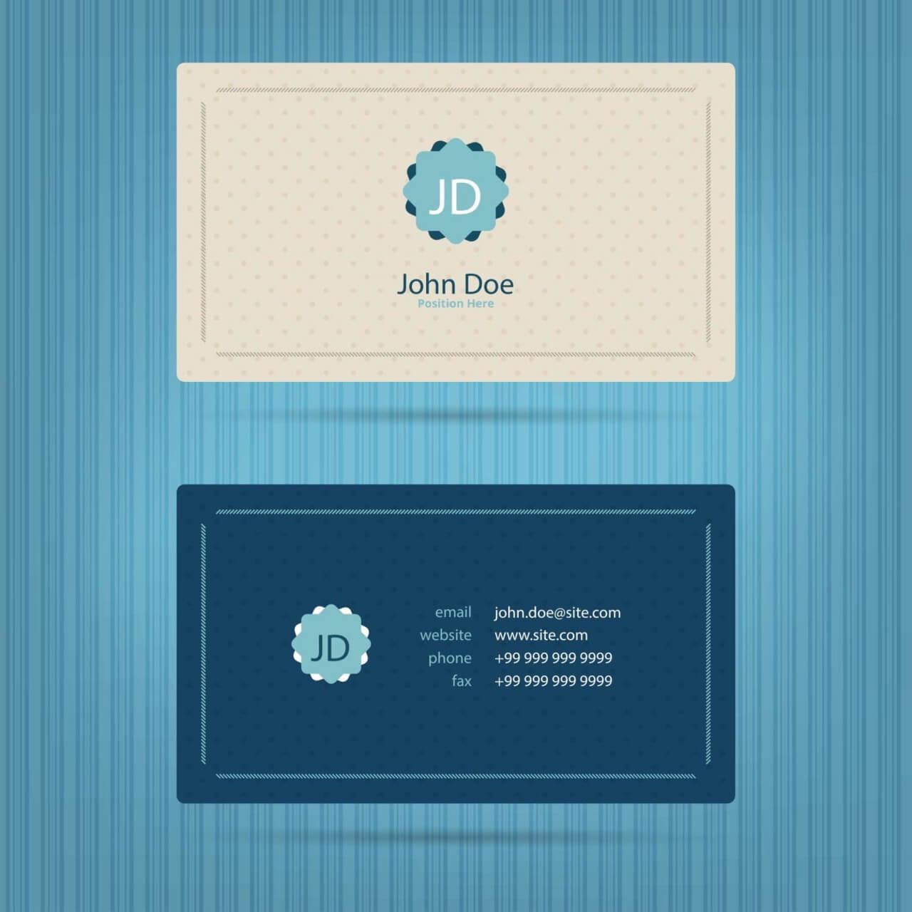"Free vector ""Modern blue business card template"""