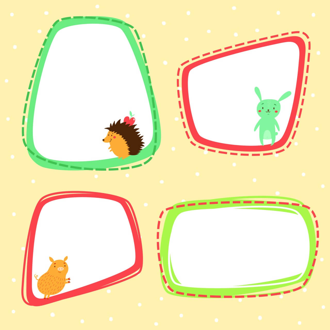 "Free vector ""Cute frames vector set"""