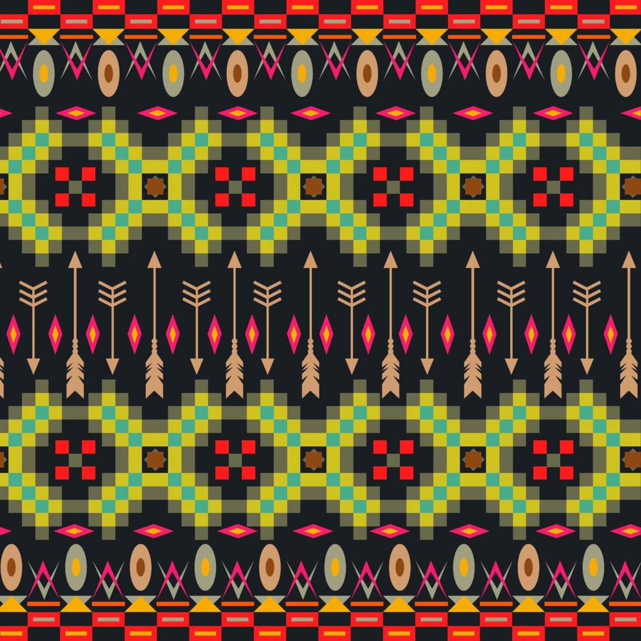 "Free vector ""Aztec background"""