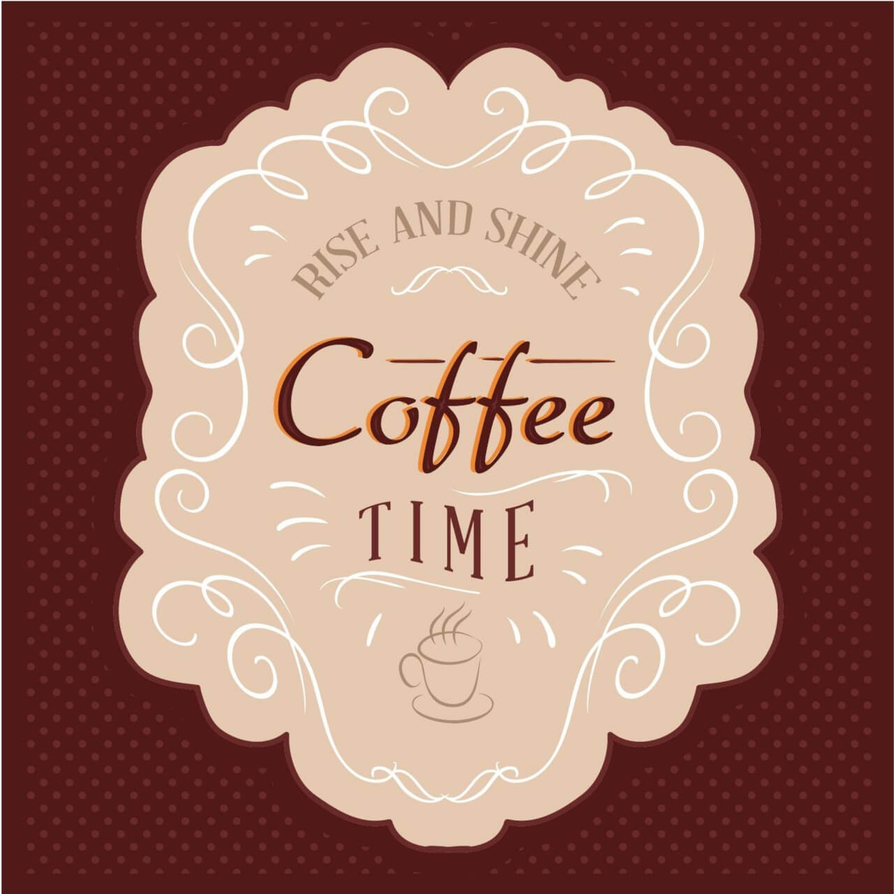 """Free vector """"Coffee label"""""""
