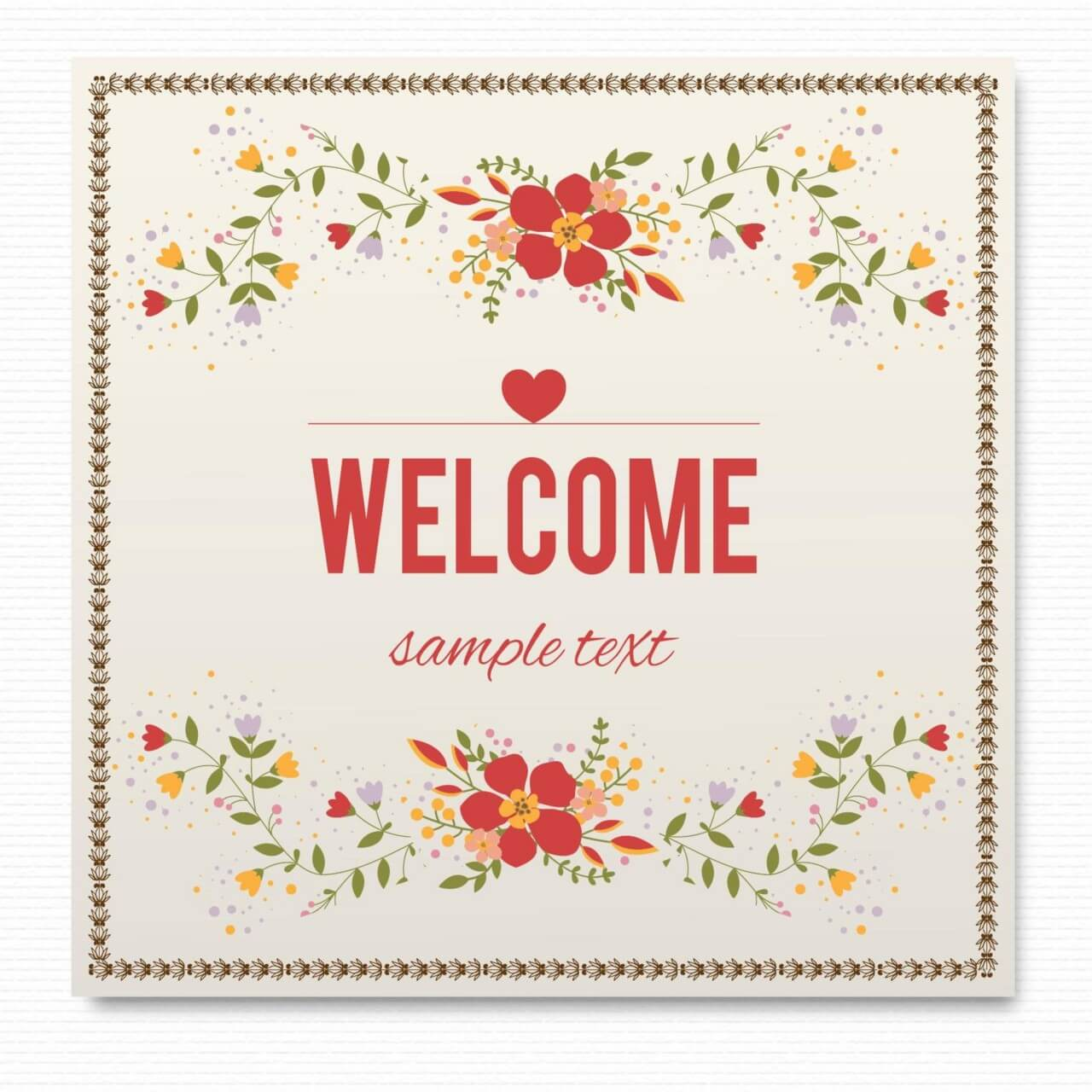 """Free vector """"Floral card"""""""