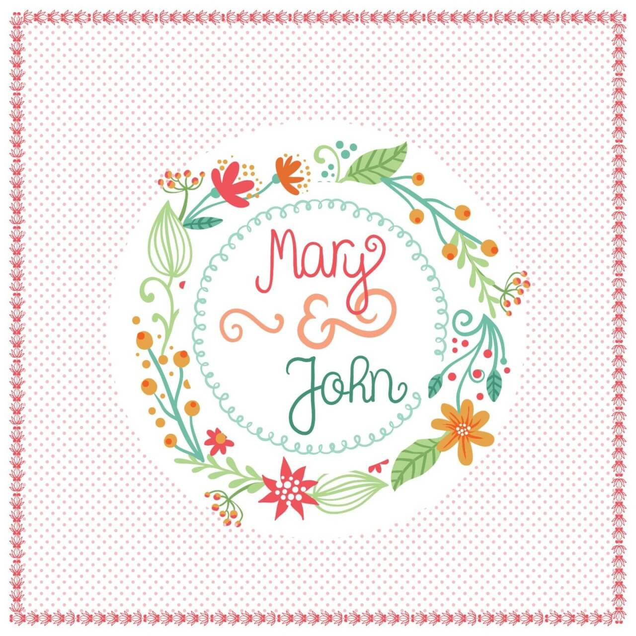 """Free vector """"Floral card with frame """""""
