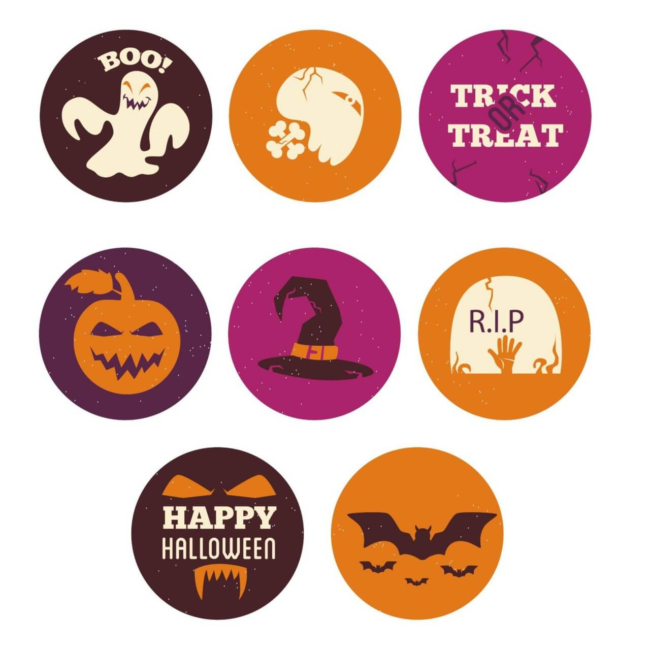 "Free vector ""Halloween icons """