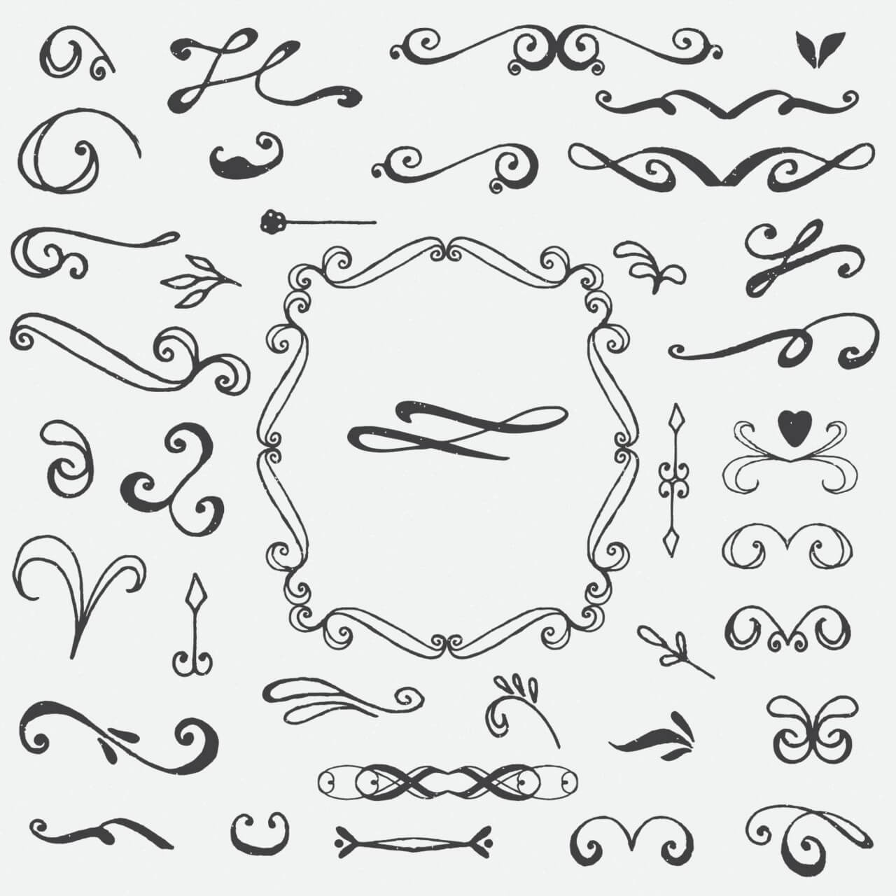 "Free vector ""Floral ornaments"""